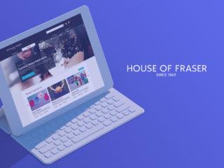 House of Fraser Microsite